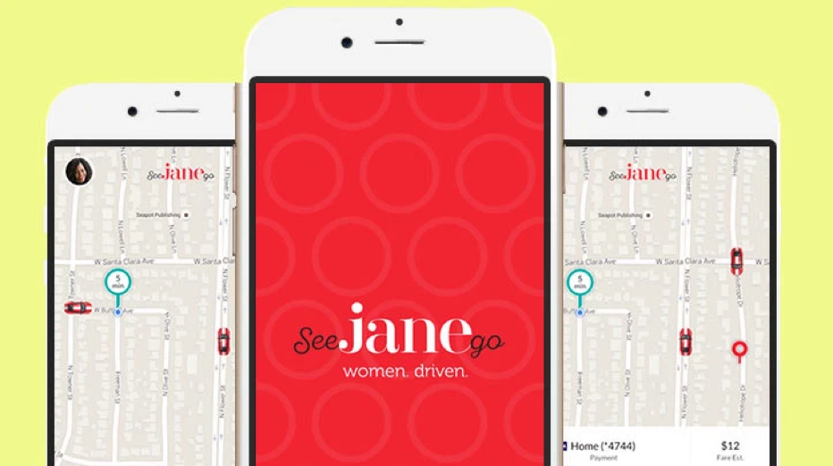 Screenshot of the See Jane Go app